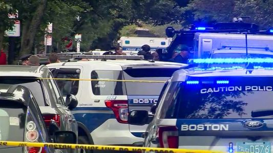 Police: 1 in custody after officer shot in Boston's South End