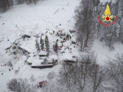 At least six survivors - and two dogs - pulled from the rubble of avalanche-crushed hotel in Italy
