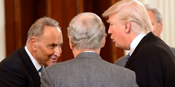 Chuck Schumer made sure businesses controlled by Trump, his family, and top US officials couldn't get money from the government's $2 trillion coronavirus bailout fund