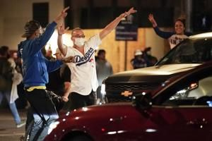 18 arrested in LA during Dodgers championship celebrations