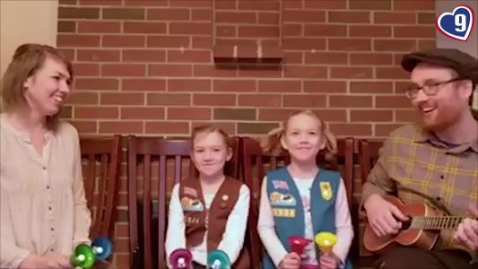 Exeter Girl Scouts deliver cute, clever cookie sales pitch