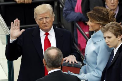 Donald J. Trump is sworn in as 45th president of the United States