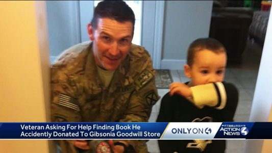 Veteran asks for help finding book he accidentally donated to local Goodwill store