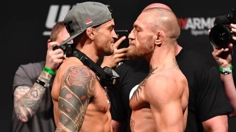 Hot sauce and staredowns: Watch Conor McGregor and Dustin Poirier go face-to-face for the last time ahead of UFC 257