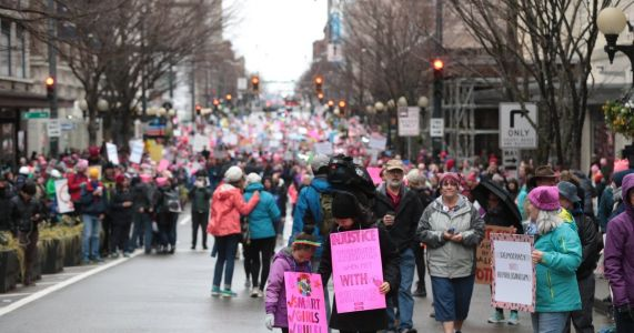 Renewal and resistance in Seattle - Thousands take to streets for Women's March
