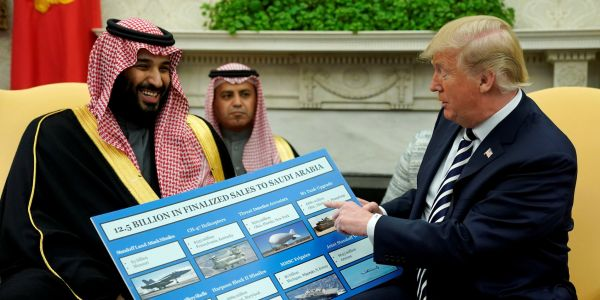 Trump doubts Turkish officials and touts arms deal with Saudi Arabia when asked about Khashoggi disappearance