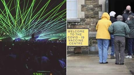 UK police tipped off about 'illegal rave' show up to find cold pensioners queuing for Covid vaccine