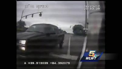 Dash cam video shows driver hitting fire truck in Middletown