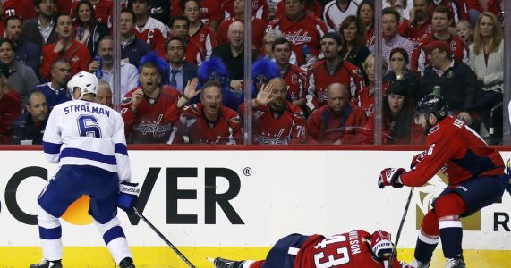 Capitals' Wilson thinks hit from TB's Stralman had 'don'ts'