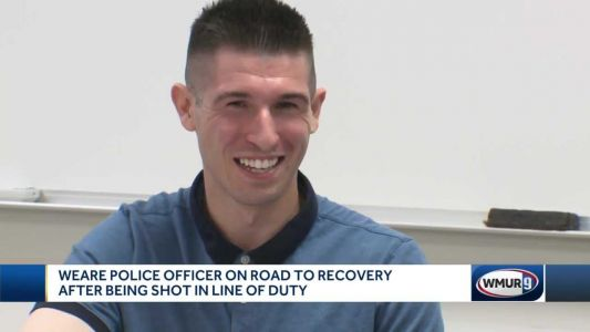 Weare officer on road to recovery after being shot in line of duty