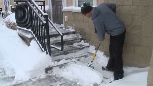 No break from work on snow day for some teachers and students