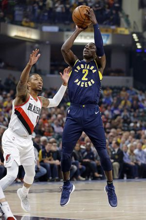 McCollum's scores 28 in Blazers 114-96 win over Pacers