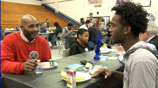Mentoring program connects Iroquois High School students with male role models