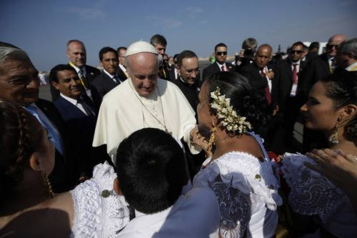 Pope consoles Peruvians reeling from floods, violence
