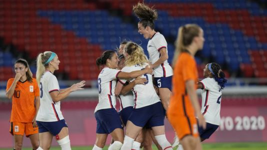 U.S. Women's Soccer Is Tied 2-2 In A Must-Win Olympic Game Against The Netherlands