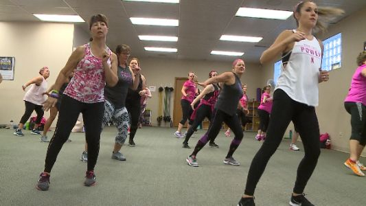 Working up a sweat and raising money to help women beat breast cancer