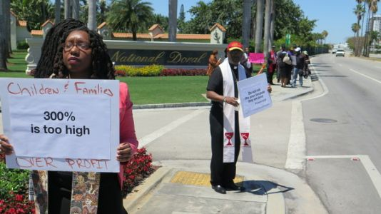 Payday Lenders Convening At A Trump Resort Are Met By Protesters