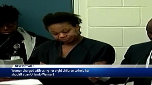 Woman accused of using 8 children to help her shoplift at Orlando Walmart