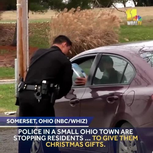 This police department is giving presents, not tickets, for Christmas