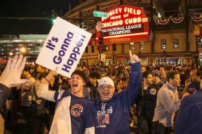 The Latest: Michelle Obama says 'Way to go Cubs'