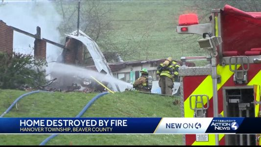 Home destroyed by fire in Hanover Township