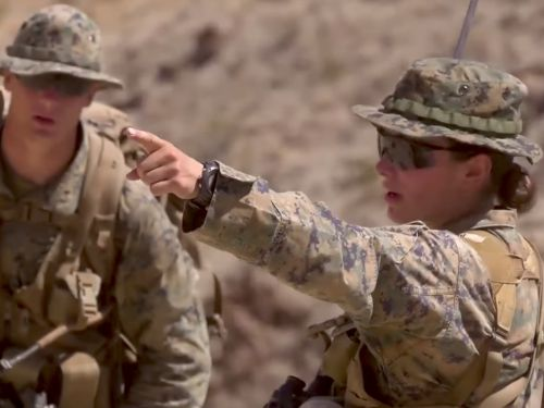 This is the Marine Corps' first female infantry officer
