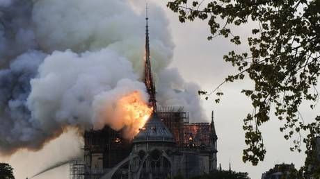WATCH LIVE: Fire engulfs Notre-Dame cathedral in Paris, parts of it collapse