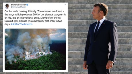 Macron posts Amazon fire photo that's not from this year, gets torched by Brazil's Bolsonaro