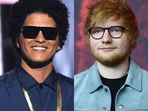 Ed Sheeran serenaded Bruno Mars for his birthday - and it was as extra as you'd expect