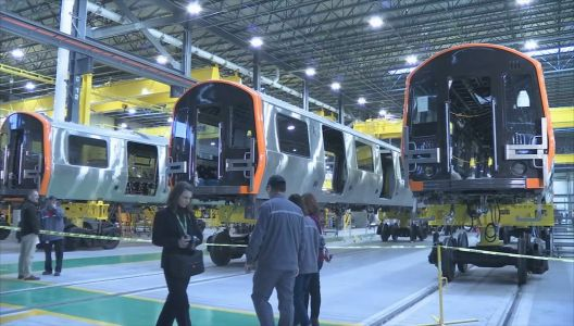 Inside the factory building the next generation of Orange and Red Line train cars