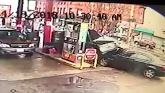 Watch: Surveillance video captures SUV crashing into local gas station