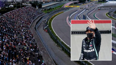 F1 champ Hamilton cruises to pole position at Russian Grand Prix but faces investigation as he chases Schumacher record of 91 wins