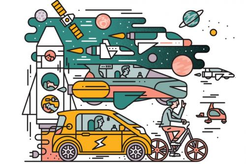 Flying Cars, Bike Share, and Space Tourism: How You'll Be Traveling in 2018