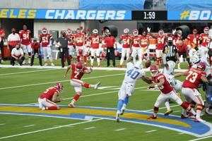 Butker good from 58 in OT, Chiefs survive Herbert's LA debut