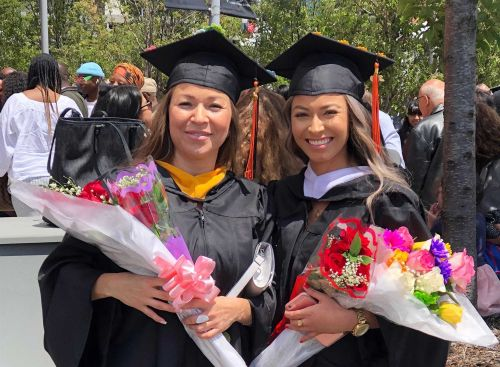 Immigrant mother, daughter graduate from same college, together