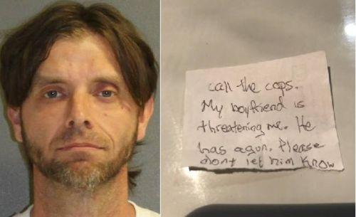 Beaten woman rescued after slipping note to veterinary staff for help