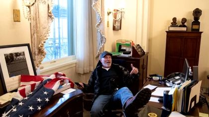 Richard Barnett, Man Photographed In Nancy Pelosi's Office During U.S. Capitol Siege, Faces 11 Years In Prison