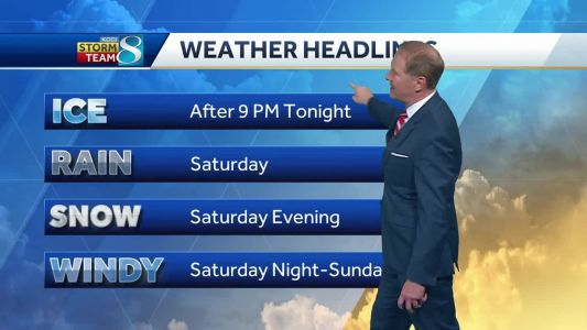 Ice, rain and snow in store this weekend
