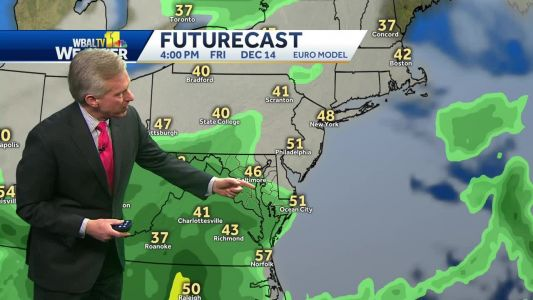 Rain coming Friday, Tom shows when