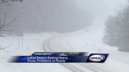Slow going on roads as snow falls in NH