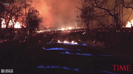 "Hawaii volcano produces methane and ""eerie"" blue flames"