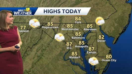 Sun, clouds, temps in 80s Friday