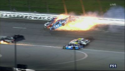 Scary wreck in NASCAR ends with a driver taken off on a str