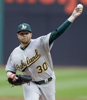 Anderson leaves with cervical strain, A's beat Indians 6-4
