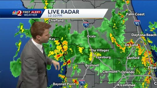 Showers to taper off into the evening