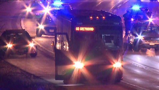 'Armed suspect' on Greyhound bus arrested after chase from Wisconsin into Illinois