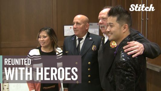 Siblings reunited with firefighters who saved them from a burning building 30 years ago