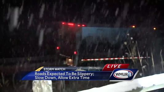 Roads expected to be slippery; Officials advise allowing extra travel time