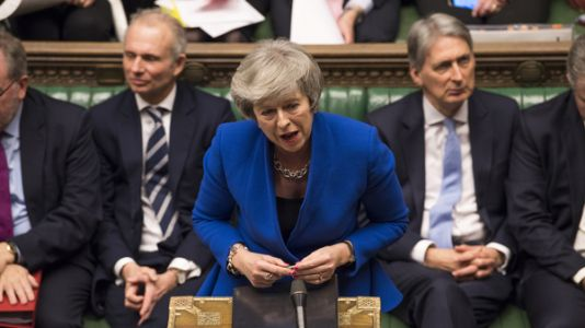 Amid Brexit Chaos, U.K. Parliament Holds No-Confidence Vote On Theresa May