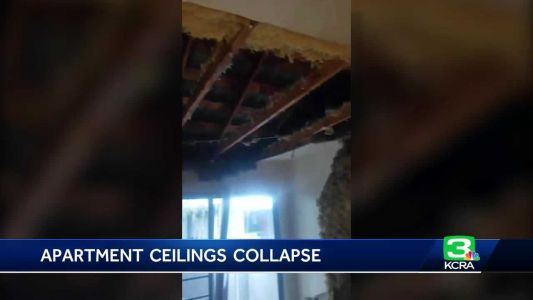 Stockton families displaced after apartment ceilings collapse